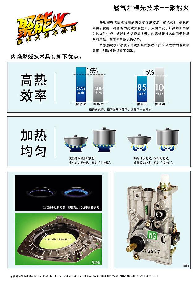 林内燃气灶节能技术