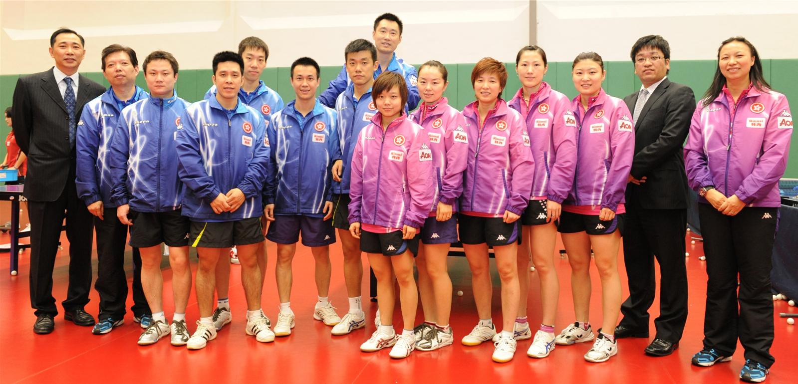 广州林内与香港乒乓球队的友好交流